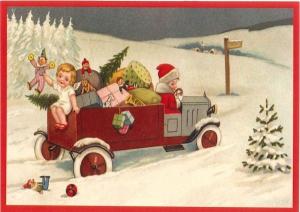 Postkarte Sortiment Weihnachten geprägt 6Wp044