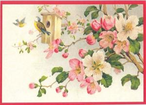 Glückwunschpostkarte beglittert 6Gg046