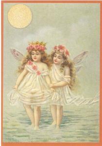 Glückwunschpostkarte beglittert 6Gg039