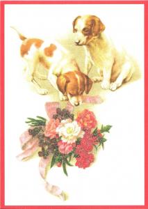 Glückwunschpostkarte beglittert 6Gg041