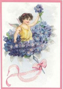 Glückwunschpostkarte beglittert 6Gg037