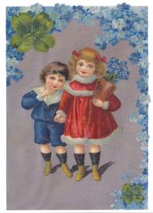 Glückwunschpostkarte beglittert 6Gg035