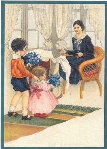 Glückwunschpostkarte beglittert 6Gg043
