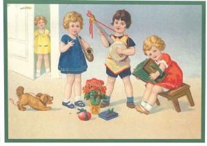 Postkartenset musizierende Kinder M4