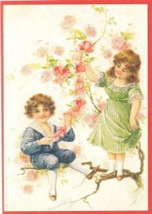 Glückwunschpostkarte beglittert 6Gg038