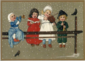 Postkarte Sortiment Weihnachten beglittert 6Wg016