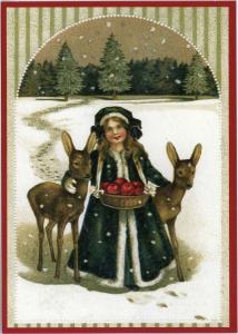 Postkarte Sortiment Weihnachten beglittert 6Wg009