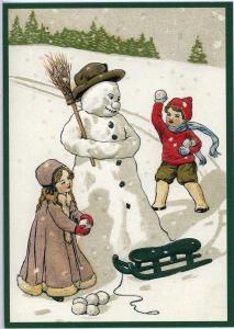 Postkarte Sortiment Weihnachten beglittert 6Wg013